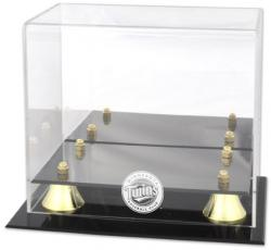 Minnesota Twins Golden Classic Logo Mini Helmet Case - Mounted Memories
