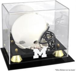 Michigan Wolverines Golden Classic Logo Mini Helmet Display Case