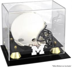 Michigan Wolverines Golden Classic Logo Mini Helmet Display Case