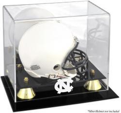 North Carolina Tar Heels Golden Classic Logo Mini Helmet Display Case