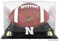 Nebraska Cornhuskers Golden Classic Logo Football Display Case with Mirror Back - Mounted Memories