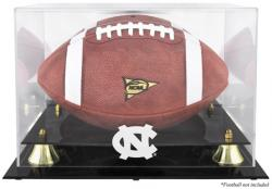 North Carolina Tar Heels Golden Classic Team Logo Football Display Case with Mirror Back - Mounted Memories