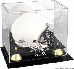 Pittsburgh Panthers Golden Classic Logo Mini Helmet Display Case