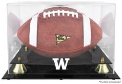 Washington Huskies Golden Classic Football Display Case with Mirror Back - Mounted Memories