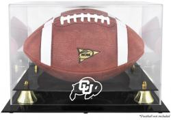 Colorado Buffaloes Golden Classic Football Display Case with Mirror Back - Mounted Memories