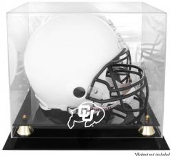 Colorado Buffaloes Golden Classic Logo Helmet Display Case with Mirrored Back