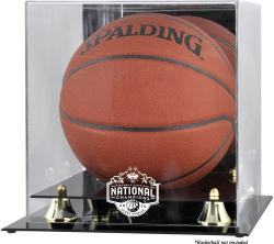 UConn Huskies 2014 Men's NCAA Basketball National Champions Golden Classic Logo Basketball Display Case with Mirror Back - Mounted Memories