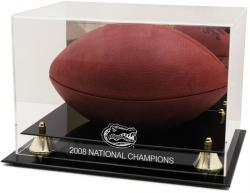 Florida Gators Golden Classic 2008 National Champions Logo Football Display Case with Mirror Back