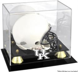 Kentucky Wildcats Golden Classic Logo Mini Helmet Display Case
