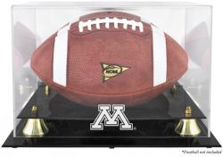 Minnesota Golden Gophers Golden Classic Logo Football Display Case with Mirror Back - Mounted Memories
