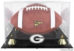 Georgia Bulldogs Golden Classic Logo Football Display Case with Mirror Back - Mounted Memories