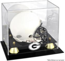 Georgia Bulldogs Golden Classic Logo Mini Helmet Display Case