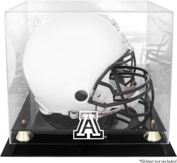 Arizona Wildcats Golden Classic Logo Helmet Display Case with Mirrored Back