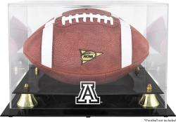 Arizona Wildcats Golden Classic Logo Football Display Case with Mirror Back - Mounted Memories