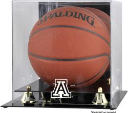 Arizona Wildcats Golden Classic Logo Basketball Display Case with Mirror Back - Mounted Memories