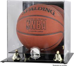 Golden State Warriors Golden Classic Team Logo Basketball Display Case - Mounted Memories