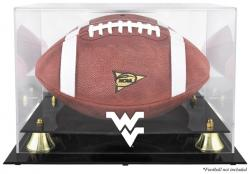 West Virginia Mountaineers Golden Classic Football Display Case with Mirror Back - Mounted Memories