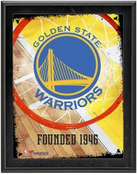 """Golden State Warriors Team Logo Sublimated 10.5"""" x 13"""" Plaque"""
