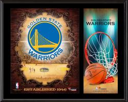 """Golden State Warriors Sublimated 12"""" x 15"""" Team Logo Plaque"""