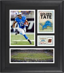 Golden Tate Detroit Lions Framed 15'' x 17'' Collage with Game-Used Football