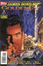 Pierce Brosnan, Judi Dench, Alan Cumming, & Samantha Bond Signed Goldeneye Comic