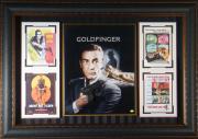 James Bond 007 - Goldfinger Sean Connery Signed Movie Displa