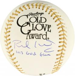 Paul Goldschmidt Arizona Diamondbacks Autographed Gold Glove Baseball with 2013 Gold Glove Inscription