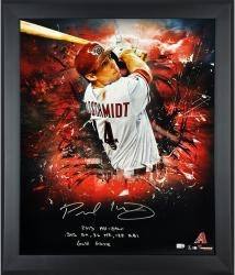 Paul Goldschmidt Arizona Diamondbacks Framed Autographed 20'' x 24'' In Focus Photograph with Multiple Inscriptions - Mounted Memories