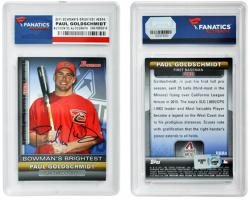 Paul Goldschmidt Arizona Diamondbacks Autographed 2011 Bowman Bowman's Brightest Card - Mounted Memories