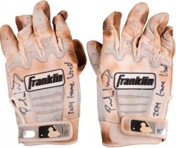Paul Goldschmidt Arizona Diamondbacks Autographed Game-Used White Batting Gloves with 2014 Game-Used Inscription
