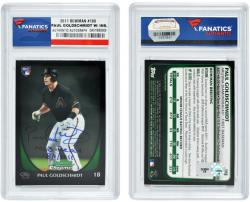 Paul Goldschmidt Arizona Diamondbacks Autographed 2011 Bowan Card with MLB Debut Inscription - Mounted Memories