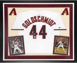 Paul Goldschmidt Autographed Diamondbacks Jersey - Deluxe Framed