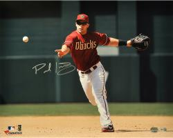 "Paul Goldschmidt Arizona Diamondbacks Autographed 16"" x 20"" Red Uniform Fielding Photograph"