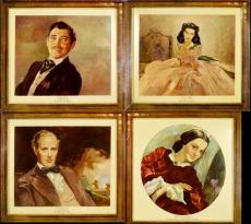 Gone With the Wind (MGM, 1939) Oilette Set (4) (18″ X 19″)