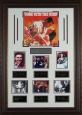 Gone With the Wind unsigned Vintage Movie 7 Cast Photo Engraved Signature Series Leather Framed 33X24 (entertainment)