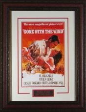 Gone With the Wind unsigned Vintage Movie Poster Leather Framed 20x28 (entertainment/photo)