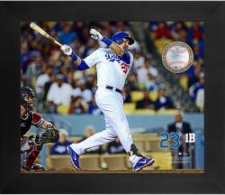 "Adrian Gonzalez Los Angeles Dodgers Framed 20"" x 24"" Gamebreaker Photograph with Game-Used Ball"