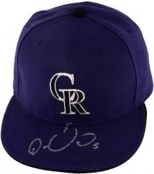 GONZALEZ, CARLOS AUTO (ROCKIES) (MLB) HAT - Mounted Memories