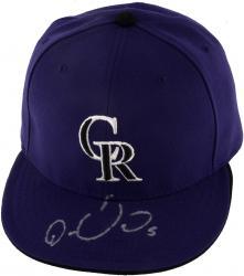 GONZALEZ, CARLOS AUTO (ROCKIES) (MLB) HAT - Mounted Memories