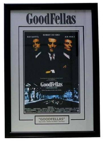 Goodfellas 30x20 Custom Framed Movie Poster Photo Display Liotta Pesci Deniro