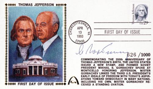 Mikhail Gorbachev Autographed Cachets Envelope