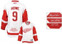 Detroit Red Wings Gordie Howe Autographed Jersey - Mounted Memories