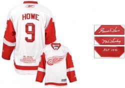 Detroit Red Wings Gordie Howe Autographed Jersey