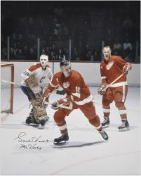 Gordie Howe Detroit Red Wings Autographed 16'' x 20'' Vertical Color Photograph with Mr. Hockey Inscription - Mounted Memories