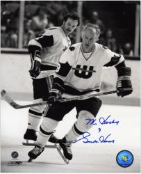 "Gordie Howe Hartford Whalers Autographed 8"" x 10"" B&W Photograph with Mr. Hockey Inscription"