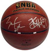 Chicago Bulls Ben Gordon and Kirk Hinrich Autographed Spalding Basketball - Mounted Memories