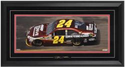 Jeff Gordon Framed Mini Panoramic with Facsimile Signature - Mounted Memories
