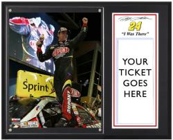 """Jeff Gordon 2012 Ford EcoBoost 400 Sublimated 12x15 """"I WAS THERE"""" Photo Plaque"""