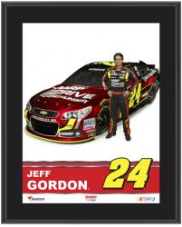 "Jeff Gordon Sublimated 10.5"" x 13"" Plaque - Mounted Memories"