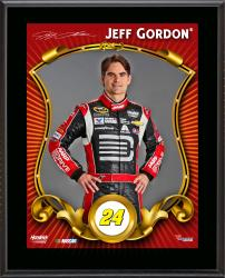 "Jeff Gordon Sublimated 10.5"" x 13"" Stylized Plaque"